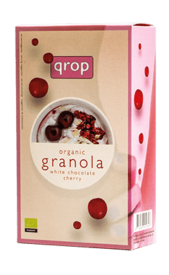 Qrop Granola – White Chocolate / Cherry